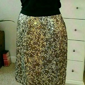 NWT Worth gold sequin skirt